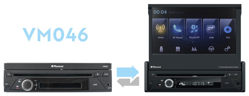 Phonocar VM046 monitor a scomparsa